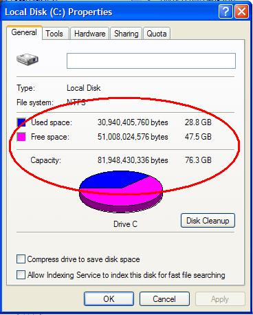 How much harddrive space do you  have left