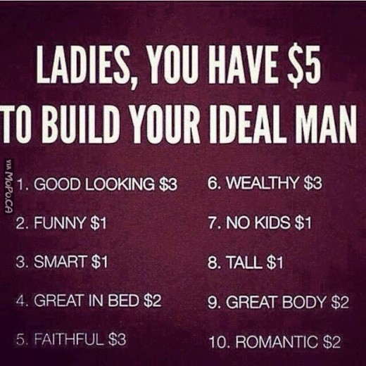 Good Looking Guy Quotes: Ladies, You Have $5 To Build Your Ideal Man.